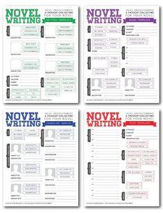 Novel Writing Brainstorming Templates V2.0 by rhinoandasmallbird