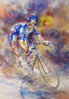 The Classics Master - Johan Museeuw by Jeremy Mallard >>> Gritty sort of depiction this one. Very nice and one to inspire getting a grunt on! Thanks for sharing this pin. MAKETRAX.net - Bicycle ART