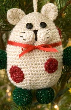 """Kitty Ornament- Free Pattern - PDF Download ( click """"Download Printable Instructions"""")"""