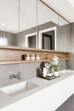 55 Stunning Farmhouse Bathroom Mirror Design Ideas And Decor - . 55 Stunning Farmhouse Bathroom Mirror Design Ideas And Decor - Always aspired. Bathroom Mirror Design, Bathroom Renos, Modern Bathroom Design, Bathroom Styling, Bathroom Interior Design, Bathroom Renovations, Bath Design, Bathroom Inspo, Contemporary Bathrooms