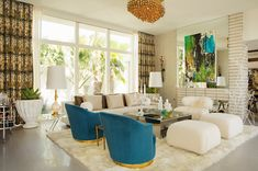 Windows and totally awesome carpet!  Contemporary Living Room by Woodson & Rummerfield's House of Design