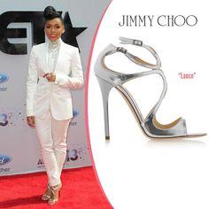 972d0cb07ac Janelle Monae in Jimmy Choo Lance Sandal  celebrity  shoes  style Sophia  Webster Shoes