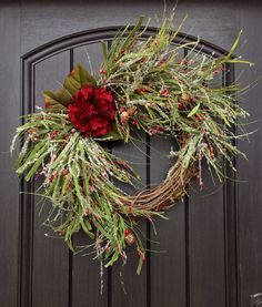 Christmas Wreath Winter Wreath Holiday Door by AnExtraordinaryGift, $75.00