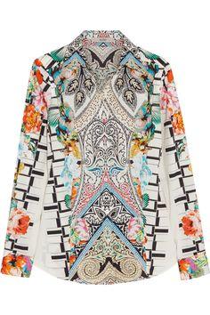 Etro|Printed stretch-cotton shirt|NET-A-PORTER.COM
