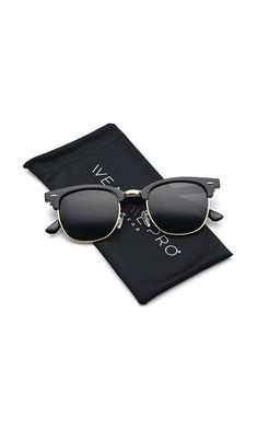 1bb51198f07f 12.99  - Polarized Clubmaster Classic Half Frame Semi-Rimless Rimmed  Sunglasses from WearMe Pro