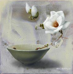 Chul-Hwan Park is a Korean Still Life painter of flowers. Arte Floral, Botanical Art, Art Oil, Art Blog, Flower Art, Still Life, Decorative Bowls, Photo And Video, Park