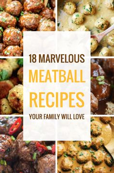 18 Marvelous Meatball Recipes Your Family Will Love Meatball making party Seafood Recipes, Crockpot Recipes, Dinner Recipes, Cooking Recipes, Healthy Recipes, Barbecue Recipes, Cooking Tips, Beef Dishes, Clean Eating Snacks