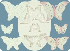 Lace Butterflies Mold by FPC Sugarcraft