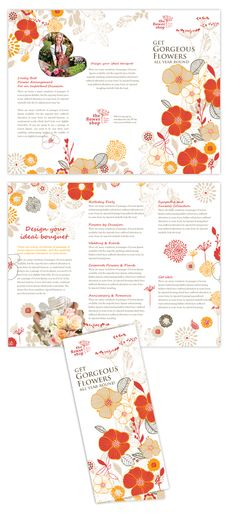Florist Shop brochure design