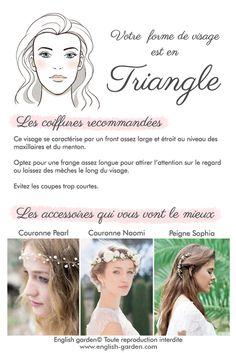 Conseils astuces coiffure Visage triangle   #wedding #hair #bride