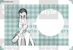 Greeting card with businessman keepng silence – personalize your card with a custom text