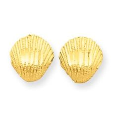 This 14k Gold Diamond-cut Shell Earrings is made with expert craftsmanship and can be worn everyday for a lifetime. We guarantee that our gold jewelry is made with authentic solid gold. Treat yourself to the luxury of brilliant solid gold that will never go out of style.