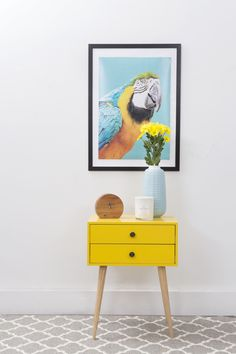Yellow Lois Bedside Table from Zanui | Shop the look at Zanui.com.au