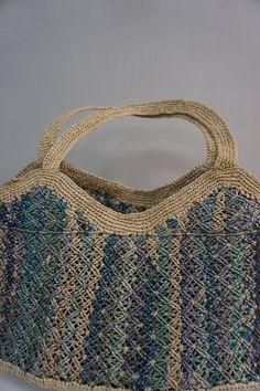 Sophie Digard Blue Rafia Bag
