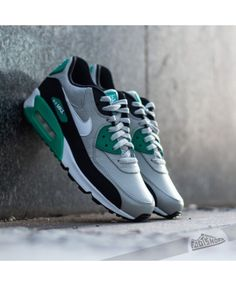 Nike Air Max 90 Leather Granite White Black Emerald Online