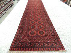 Handmade Afghan Turkman Runner Size: 375cm x 78cm