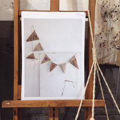 De slingers uit // zondag #posters #haarlem #atelier8 #paper #living #shop