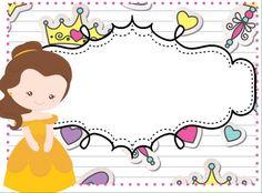 Marcos niñas (10) - Imagenes Educativas Printable Name Tags, Printable Labels, Printables, Notebook Labels, Classroom Labels, School Labels, School Clipart, School Notebooks, Clip Art