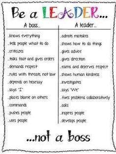 #bealeader not a #boss.