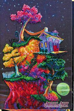 Diy Bead Embroidery, Embroidery Kits, Bead Organization, Needlepoint Kits, Bargello Needlepoint, Beads Pictures, Fantasy House, Beading Needles, Mosaic Diy