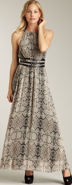 Jessica Simpson Halter Belted Maxi Dress ♥✤ | Keep the Glamour | BeStayBeautiful