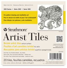Shop for Strathmore Bristol Artist Tiles, 6 x 6 Inches, 100 lb, 20 Sheets. Get free delivery On EVERYTHING* Overstock - Your Online Art Supplies Store! Bristol, Technical Pen, Surface Art, Gel Ink Pens, Drawing Exercises, Drawing Letters, Tangle Art, List Of Artists, Pattern Drawing