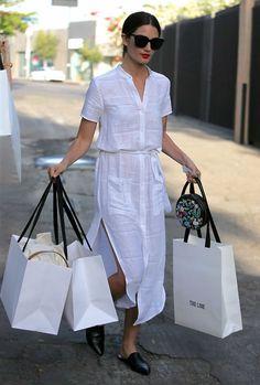 10 maneiras de atualizar o look com vestido chemise. Trendy Dresses, Casual Dresses, Casual Outfits, Summer Dresses, Casual Shirts, White Outfits, Fall Dresses, Dress Outfits, Fashion Dresses