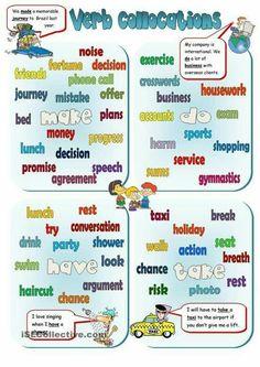 Verbs collocations