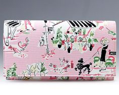 Lady in Paris clutch lady with caniche french by LaMuseChic, €25.00