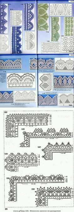 Crochet Patterns Lace Many Free crochet edging diagram, chart patterns. Crochet Boarders, Crochet Edging Patterns, Crochet Lace Edging, Crochet Motifs, Crochet Diagram, Crochet Chart, Thread Crochet, Crochet Designs, Crochet Doilies