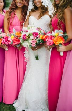 Hot pink fun: http://www.stylemepretty.com/destination-weddings/2015/05/18/colorful-puerto-vallarta-destination-wedding/ | Photography: Sarah McKenzie - http://www.sarahmckenziephoto.com/