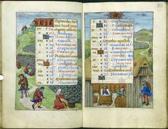 A Calendar Page for September 2012 - Medieval manuscripts blog