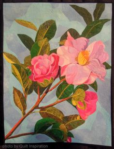 Camellia by Melinda Bula (California).  2013 Houston IQF, closeup photo by Quilt Inspiration