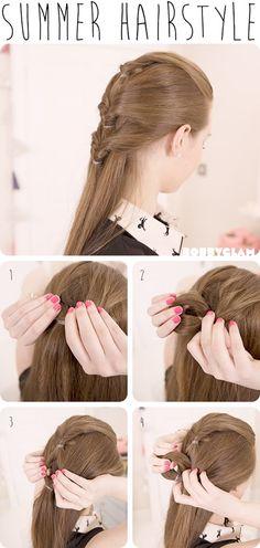 Cute Summer Hairstyle Hair Tutorial | hairstyles tutorial