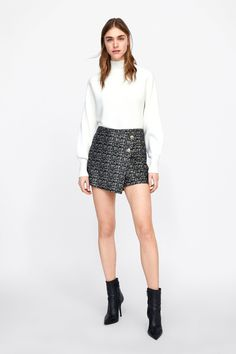 Image 1 of FAUX SUEDE SKORT from Zara