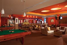 Guests can unwind at Desires Lounge complete with billiard tables and comfortable seating.