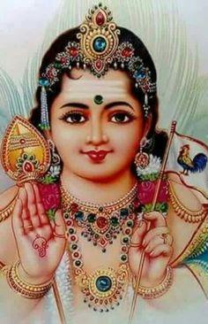 Skanda Shasti 2019 celebrates the birth of Skanda, the powerful son of Lord Shiva. Lord Ganesha, Lord Krishna, Rama Lord, Lord Murugan Wallpapers, Lord Shiva Family, Tanjore Painting, Krishna Painting, Lord Mahadev, Goddess Lakshmi