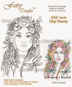 Fairy Tangles: Few New Digi Stamps and Coloring Sheets