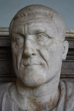 A marble bust of Roman emperor Maximinus I, r. 235-238 CE. (The Vatican Museums, Rome).