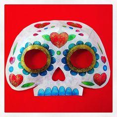 Otra máscara de papel para el #DíaDeMuertos ❤️