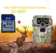 119.99$  Buy now - http://aliuy0.shopchina.info/go.php?t=32672999330 - Bestguarder 8GB SG-880V No Glow 12MP Mini Infrared IR Digital Trail Game Hunting Camera DVR  #SHOPPING