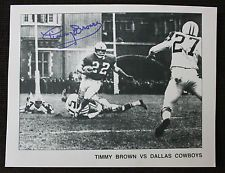 """Timmy Brown autographed 'Timmy Brown vs Dallas Cowboys"""" 8x10 photo - unframed"""