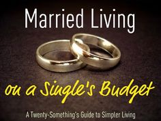 Married Living on a Single's Budget