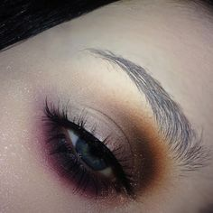 @makeupgeekcosmetics Morocco, Cherry Cola and Bitten single shadows  -  @anastasiabeverlyhills Hot Chocolate single shadow, Moonchild 'Pink Heart'  -  @ardell_lashes Double Up 207's  -  @lorealmakeup Amber Rush in the inner corner