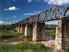 Sabie Bridge Old train-bridge close to Skukuza in Kruger National Park, South Africa Places Around The World, Travel Around The World, Around The Worlds, Abandoned Train, Abandoned Places, Kruger National Park, National Parks, Train Vacations, African Love