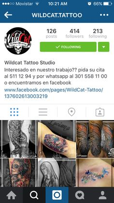 Siguenos en Instagram @wildcat.tattoo Follow us in Instagram @Wildcat.tattoo @Wildcat.tattoo @Wildcat.tattoo @Wildcat.tattoo