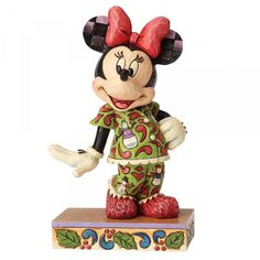 Disney Traditions Minnie Mouse in Christmas Pajamas Comfort and Joy Statue Enesco Mickey Mouse Statues Disney Figurines, Christmas Figurines, Collectible Figurines, Minnie Mouse, Mickey Mouse And Friends, Pajamas For Teens, Cute Pajamas, Comfy Pajamas, Disney Christmas Decorations