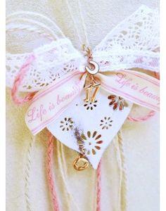 Γούρι Pink Cord & Heart Cord, Christmas Ornaments, Holiday Decor, Heart, Pink, Home Decor, Cable, Decoration Home, Room Decor