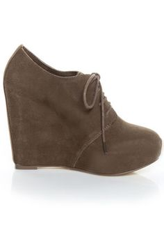 suede oxford wedge