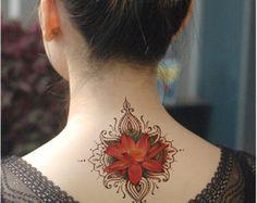 Mandala tatuaje temporal Mandala arte étnico por prosciuttojojo